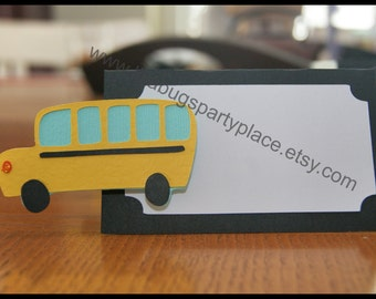 Bus, Back to School, Wheels on the Bus, Food Label/Place Card
