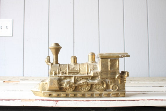 Vintage Brass Train Wood Stove Steamer Humidifier