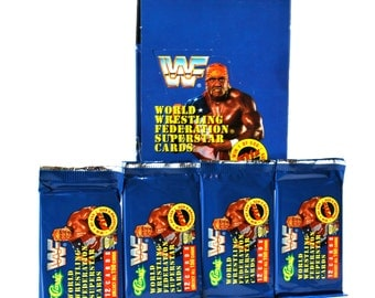 4 WWF Wrestling Card Packs by Classic 1991