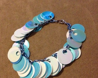 Blue sequin bracelet