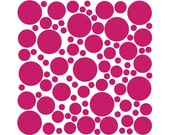 100 Wall Safe Vinyl Polka Dots Circles Decal Lip Stick Hot Dark Pink Removable Stickers Adhesive Nursery Crib Kids Kid Childs Bedroom Room