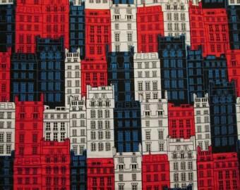 British Buildings Colors Cotton Fabric Fat Quarter or Custom Listing