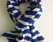 Indigo blue and green cotton wool handwoven Ethiopian scarf- Men Women azul & green fall winter accessories scarves