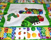 """Customized """"Tummy Time"""" Hungry Caterpillar quilt"""