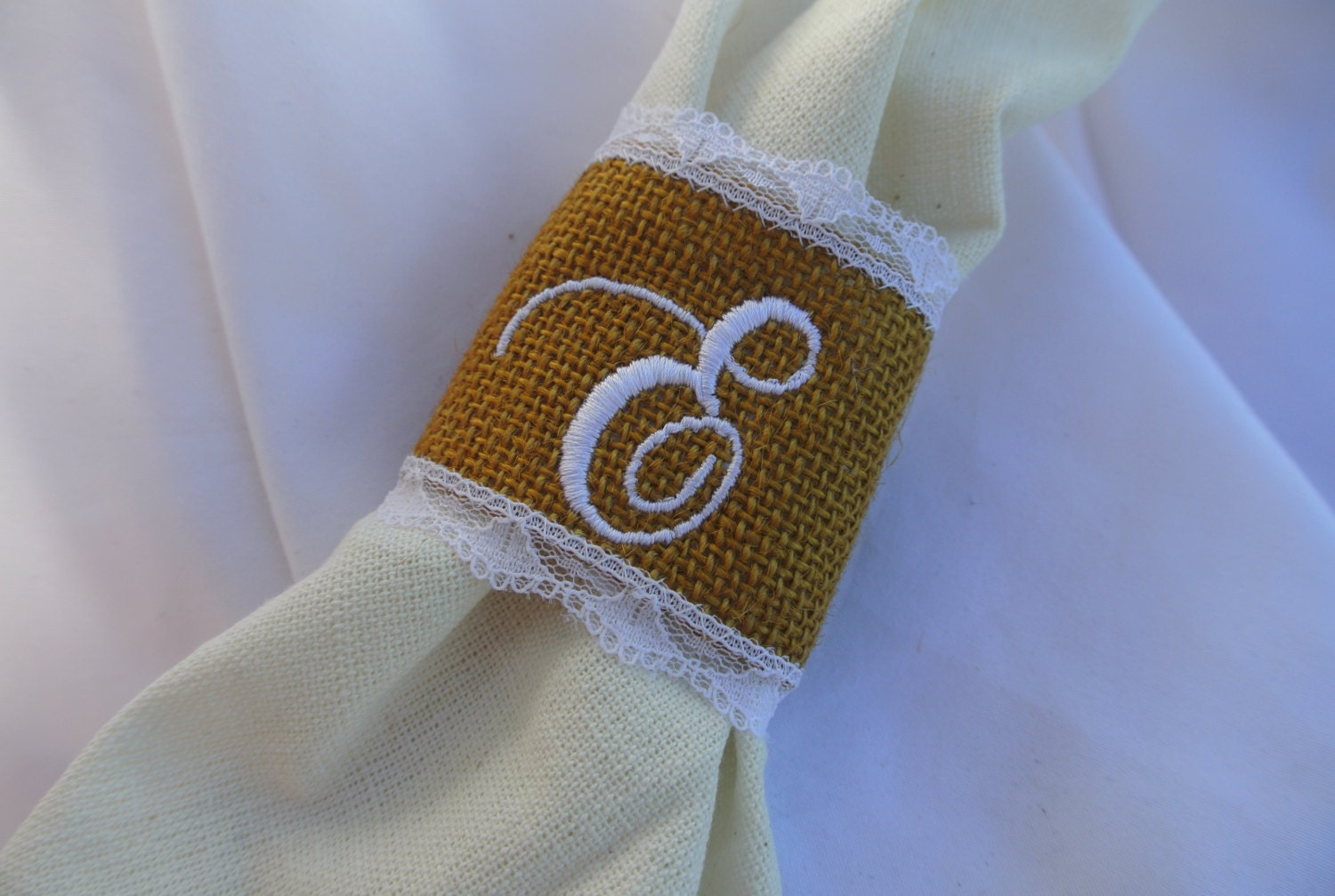 Thanksgiving Napkin Rings Burlap & Lace Napkin Rings by JCBees