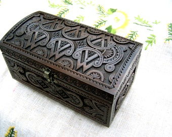Jewelry box Wooden jewelry box Wooden box Wedding jewelry box Jewelry wooden box Wedding ring box Jewelry ring box Jewelry wood carving B34