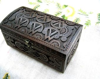 Jewelry box Wooden jewelry box Wooden box Wedding jewelry box Jewelry wooden box Wedding ring box Jewelry ring box Jewelry wood carving B34