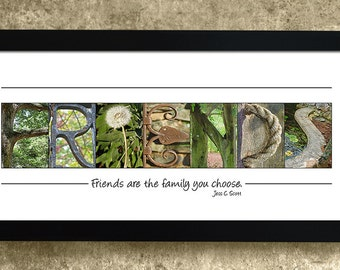 BEST FRIENDS GIFT - Alphabet Photography Letters, Friendship Gift, Gift for Friend
