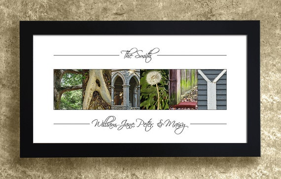 Family Name Sign, Personalized Family Name Decor, Last Name Sign, Alphabet Photography, Family Gifts, Entryway Decor, Gift for Mom