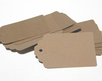 500 Paper Tags in kraft card stock - gift tags - wedding favor tags - merchandise tags