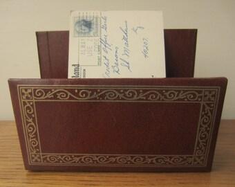 Vintage letter holder.  Desk organization.