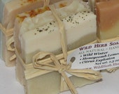 Cold Process Natural Soap Set by Wild Herb - Set of 3 Slices - Nice gift or Travel set