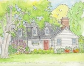architectural rendering, custom home drawing