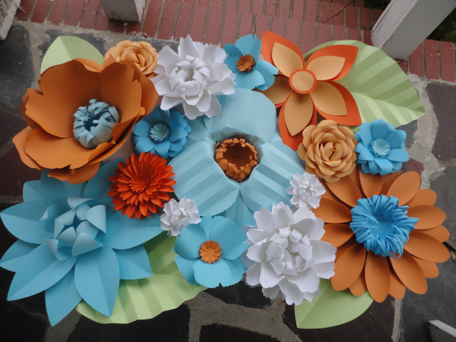 Paper Flower Wall 2ft x 2ft Extra Paper by PoshStudios