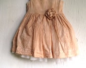 Shabby fairy girls dress, hand dyed, soft brown, birthday, toddler clothes, party clothes, mocha, rustic child