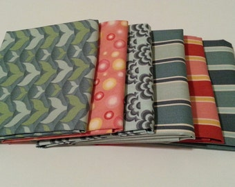 SALE - Salt Air by Cosmo Cricket for Moda - 6 Fat Quarters