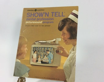 Vintage dental film strips and record for GE show n tell