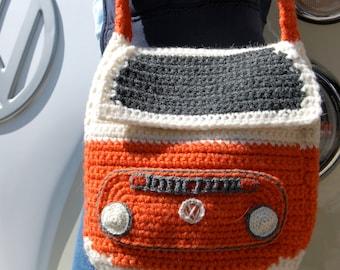 PDF Pattern for a Crocheted Bay Campervan Shoulder Bag / Purse