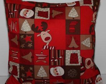 12x12 Christmas Reindeer Accent Pillow