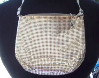 Elegant Silver Metal Mesh Small Handbag/Clutch by Whiting & Davis