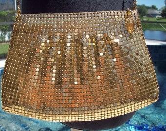 Gold Metal Mesh Bag by Marlo