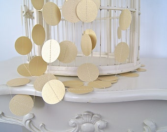 Gold Circles Paper Garland,  20 Colors to Choose, Double-Sided, Bridal Shower, Baby Shower, Gold Party Decorations, Gold Birthday Decoration