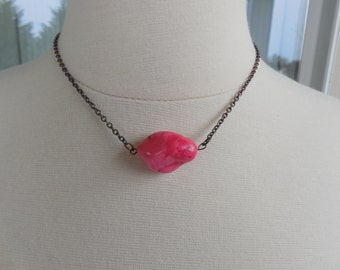 Pretty In Pink Nugget Necklace
