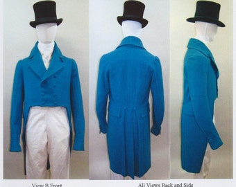 LM122 - Laughing Moon #122, 1806-1820 Empire or Regency Tailcoat Sewing Pattern