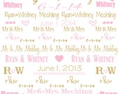 PERSONALIZED PHOTOBOOTH Backdrop 6x8' WEDDING, birthday, baby shower or other event