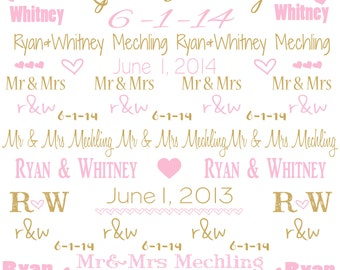 PERSONALIZED PHOTOBOOTH Backdrop 7x7' WEDDING, birthday or other event