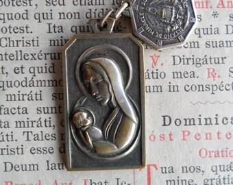 Vintage Religious Charms/Medals - Belgium Flea Market Find