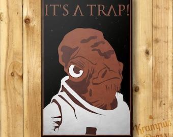"""Star Wars Admiral Ackbar Poster - """"It's A Trap"""" 11x17"""