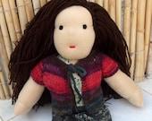 Camilla, Vegan friendly doll, waldorf doll, doll for children, handmade doll,christmas gift