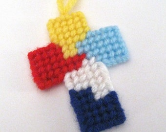 Autism Awareness Cross Christmas Ornament Or Bookmark Or Magnet Or Pin