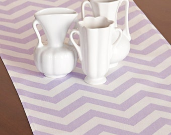 Choose your Table Runner, Light Purple Chevron Table Runner Wedding Gift Table Runners Decorative Holidays - You Select Size