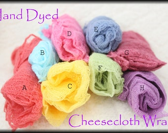 4- Hand Dyed Cheesecloth Wraps [Best Value!!!]