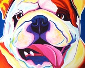Bulldog, Pet Portrait, DawgArt, Dog Art, Dog Painting, Pet portrait artist, English Bulldog, Pet portrait painting,