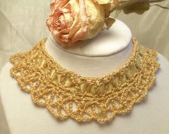Gold Gothic Lace Choker