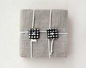 Mini notebook - Fabric covered - Natural materials - Unisex OOAK