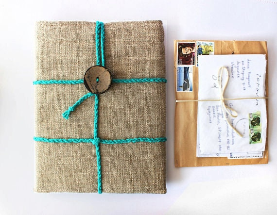 iPad 1 2 3 4 case - Post parcel design - OOAK
