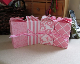 Pretty in Pink Party Favor Boxes Set of 12
