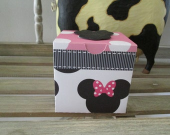 Minnie Inspired Square Favor Box Set of 12