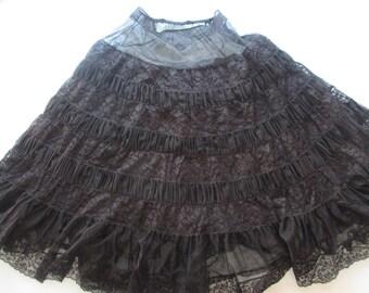 Vintage Black Lace Crinoline