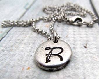 Personalized Initial Necklace - Hand Stamped Necklace - Initial Necklace - Personalized Necklace - Monogram Necklace - Hand Stamped Jewelry