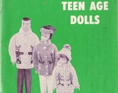 Vintage 1960s Mary Maxim Teen Age Doll Knitted Wardrobe Booklets, Vol 1 and Vol 2