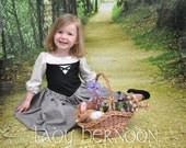 My Fairy Tale: Briar Rose Dress - Sizes 2T, 3T, 4T, 5, 6, 7, 8, and 10