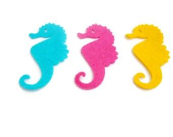 Felt seahorse die cut shapes sea creatures felt animals pre cut shapes under the sea