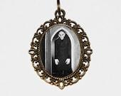 Nosferatu Necklace, Horror, Monster, Spooky, Vampire Jewelry, Oval Pendant