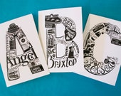 London letter greeting cards