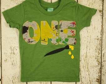 Paint brush shirt paint party splatter colorful Birthday Tee Primary colors Organic Shirt Blend perfect for boys or girls any birthday